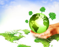 Best Internet and Environmental energy concept Stock Image