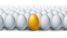 Best Investment. Choice as a golden egg retirement savings different and better value with a competitive advantage of being a leader amongst other financial Royalty Free Stock Images