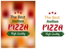 Best Italian pizza poster Stock Photos