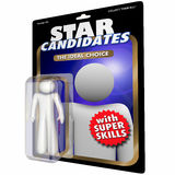 Best Job Candidate Hire New Employee Worker Action Figure. 3d Illustration Stock Photography