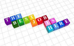 The best job is here in colour Stock Photos