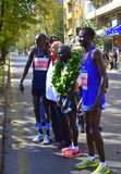 Best Kenyan marathoners posing Sofia Stock Images