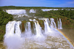 The best-known falls in the world - Iguazu Royalty Free Stock Photo