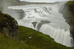 The Best-known Waterfall in Iceland- Gullfoss Royalty Free Stock Photos