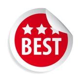 Best label round sticker stock illustration