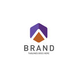 Best letter A logo octagonal concept Royalty Free Stock Image