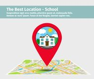 The best location school Royalty Free Stock Image