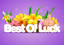 Best of Luck wallpaper background Royalty Free Stock Photos