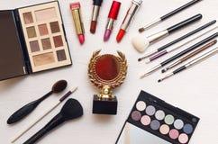 Best make up designer or stylist award gold medal. royalty free stock image