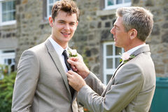 Best Man And Groom At Wedding Royalty Free Stock Images