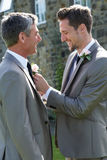 Best Man And Groom At Wedding stock photography