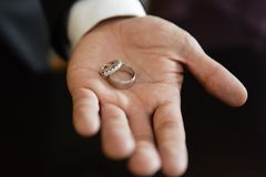 Best man with rings Stock Images