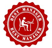 Best manager award stamp Stock Photography