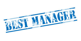 Best manager blue stamp Stock Photography