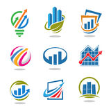 Best marketing idea and finance logo set. Best business success marketing idea and finance logo vector set royalty free illustration