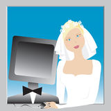 The best match. Bride and her best match vector illustration