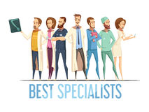 Best Medical Specialists Cartoon Style Illustration Stock Photo