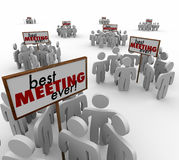 Best Meeting Ever Groups People Signs Team Discussion Stock Photo