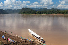 Best Mekong river,port, Luang Prabang, laos Royalty Free Stock Photography