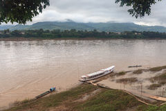 Best Mekong river,port, Luang Prabang, laos Royalty Free Stock Image
