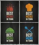 Best menu design Royalty Free Stock Images