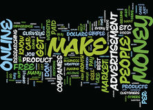 Best Methods To Make Money Online Word Cloud Concept Royalty Free Stock Photography