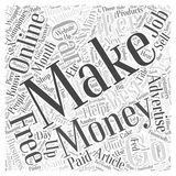 Best Methods To Make Money Online word cloud concept  background Royalty Free Stock Photo