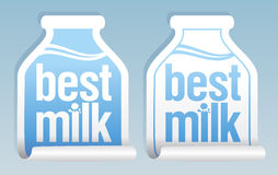 Best milk stickers. Royalty Free Stock Photos