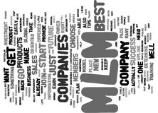 Best Mlm Companies Tips For Your Success Word Cloud Concept. Best Mlm Companies Tips For Your Success Text Background Word Cloud Concept Stock Image