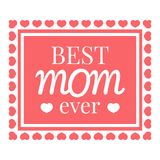 Best mom card icon, cartoon style. Best mom card icon. Cartoon illustration of Best mom card vector icon for web design Stock Photography