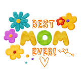 Best Mom Ever Royalty Free Stock Photography