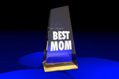 Best Mom Mother Parenting Award Words Stock Images