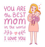 Best mom Royalty Free Stock Photography