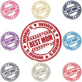 Best Mom set of stamps. Vector illustration Stock Photography