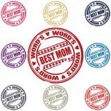 Best Mom set of stamps vector illustration