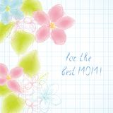 Best mom watercolor Royalty Free Stock Images
