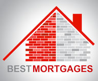 Best Mortgages Represents Real Estate And Better Royalty Free Stock Photography