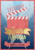 Best movies poster design concept. Stock Photos