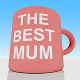 The Best Mum Mug With Sky Background Royalty Free Stock Photography