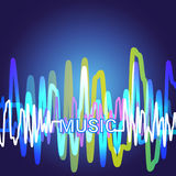 Best Music Banner Colorful Modern Musical Poster With Line Equalizer Royalty Free Stock Photography