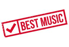 Best Music rubber stamp Royalty Free Stock Photography