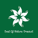 Best of Nature Product Label Royalty Free Stock Photo