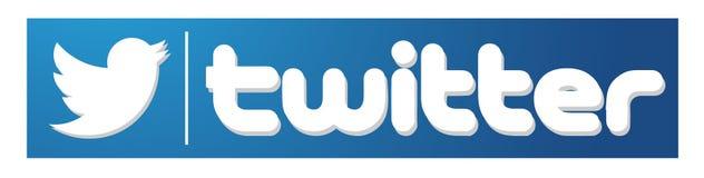 Best?ndsdel f?r vektor f?r f?gel f?r Twitter logosymbol p? vit bakgrund royaltyfri illustrationer