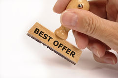 Best offer. Rubber stamp marked with best offer Stock Photos
