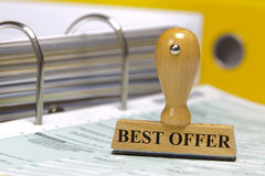 Best offer. Rubber stamp in office marked with best offer Royalty Free Stock Image