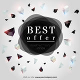 Best offer. Abstract geometric background. Vector illustration. EPS 10 stock illustration