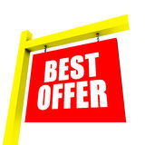 Best offer banner Stock Photography