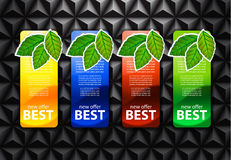 Best offer banners Stock Photography