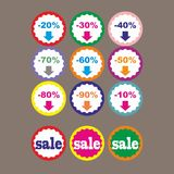 Best offer best price buy now percent discount label badge promotion sale set vector Royalty Free Stock Image
