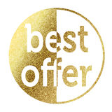 Best Offer. In bright gold Stock Images